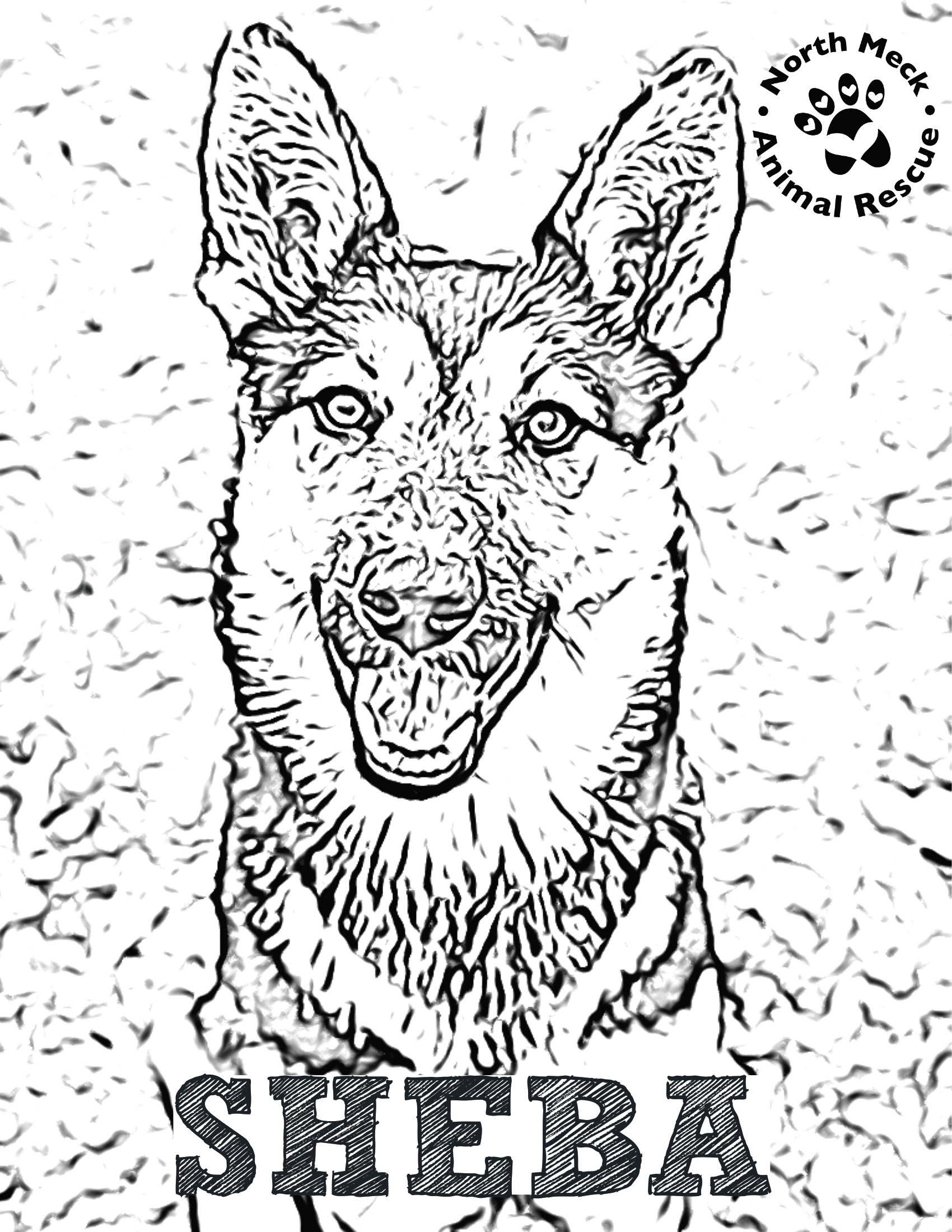 Rescue Dog Coloring Pages - North Meck Animal Rescue